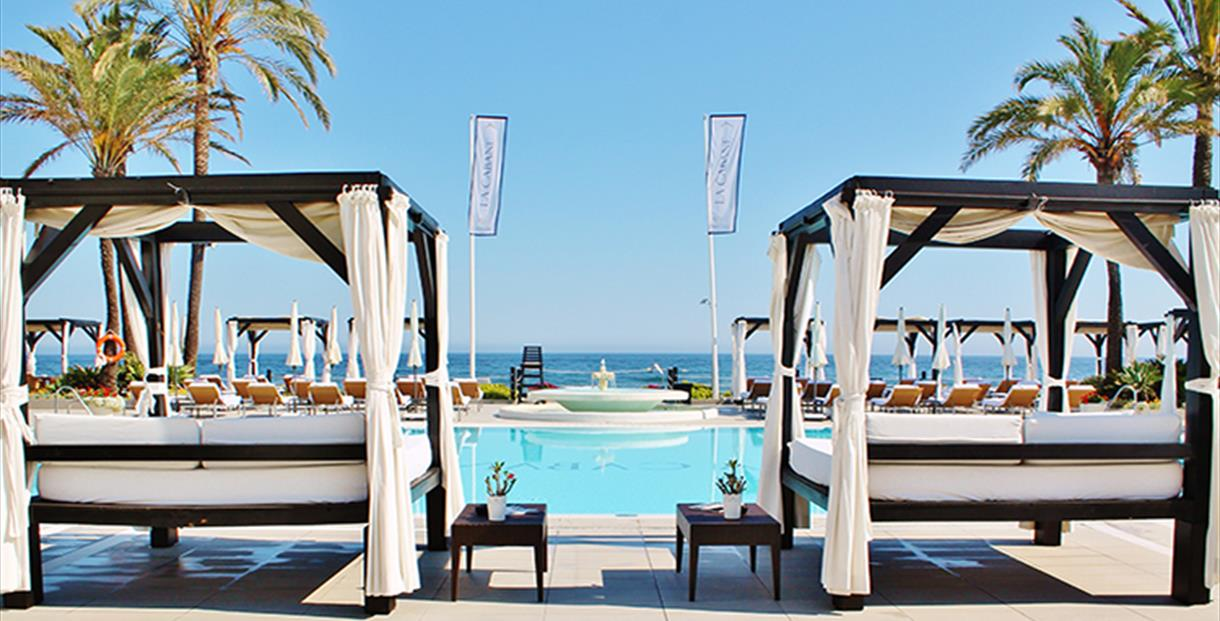 la cabane beach club gastronom a costa del sol m laga. Black Bedroom Furniture Sets. Home Design Ideas