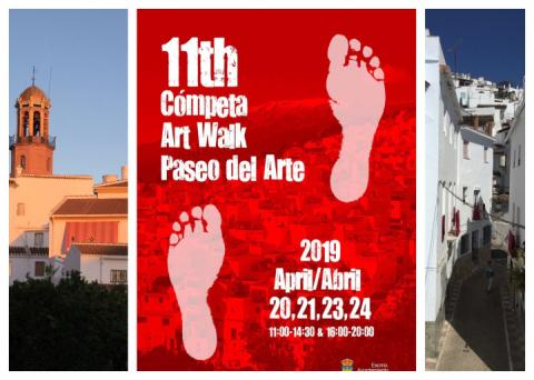 11th Art Walk Paseo del Arte. Cómpeta