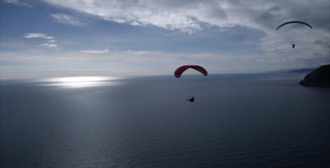 Paragliding tandem with Eolox