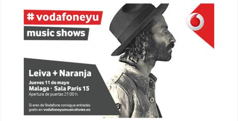 #VODAFONEYU Music Shows: Leiva